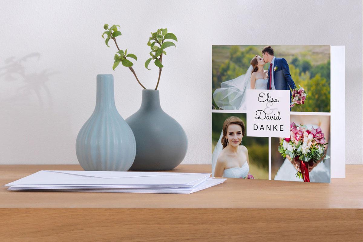 Gebruik de loveshoot specifiek om ook een geschikte foto voor de bedankkaarten te maken.